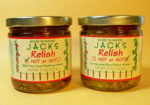 Jack's Hot or Not Relish, Mainen