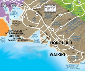 Honolulu Map StateGiftsUSA.com
