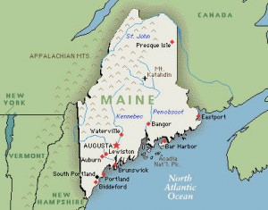 Maine Map StateGiftsUSA.com/made-in-maine