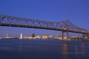 Baton Rouge at night
