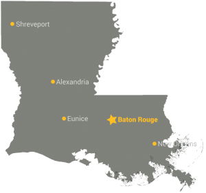 Louisiana Map StateGiftsUSA.com/made-in-louisiana