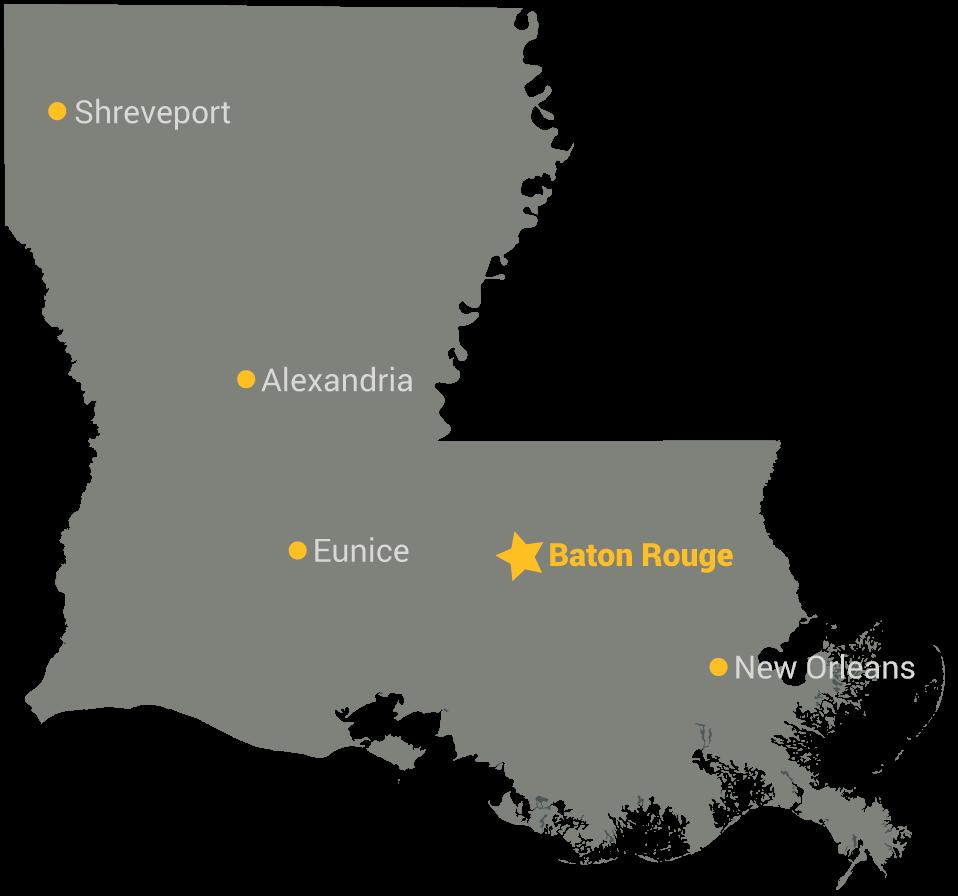 Baton Rouge map - State Gifts USA