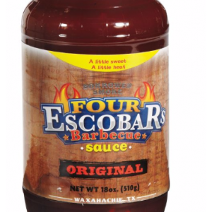 Four Excobers BBQ Sauce StateGiftsUSA.com/made-in-texas