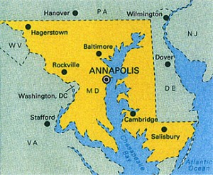 Annapolis Map StateGiftsUSA.com/made-in-maryland