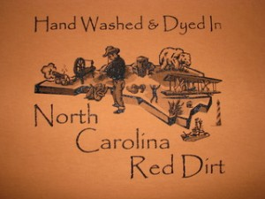 North Carolina Dirt Shirt StateGiftsUSA.com/made-in-north-carolina