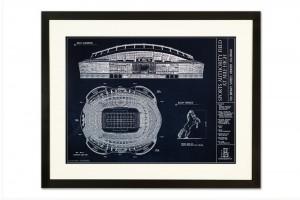 Ballpark Blueprints StateGiftsUSA.com/made-in-colorado
