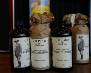 Colonel Pabst Worcestershire Sauce StateGiftsUSA.com/made-in-wisconsin