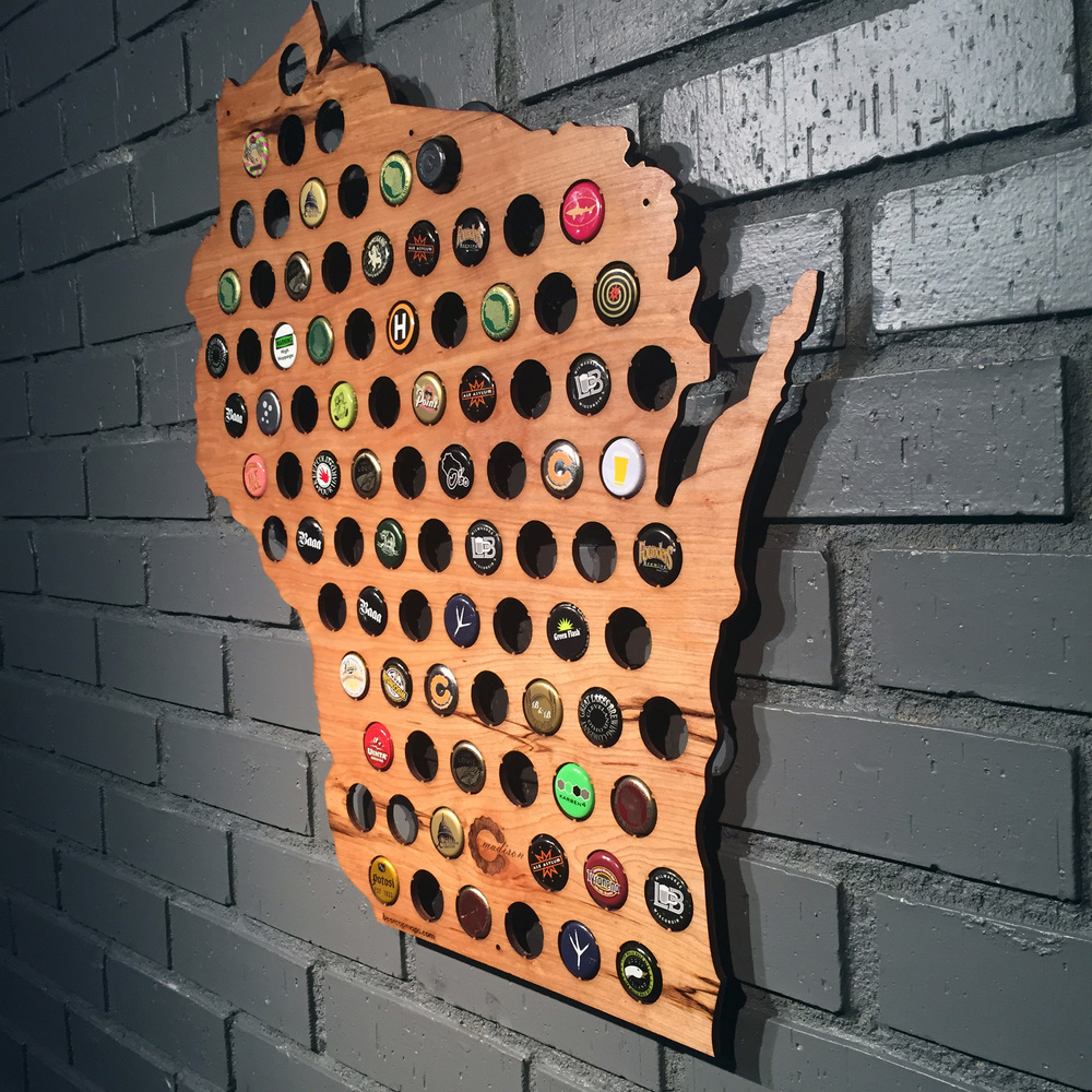 MADE IN WISCONSIN Spotlighting Wisconsin Small Businesses And - Oregon beer cap map